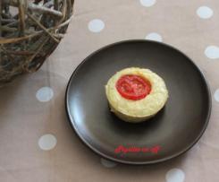 Mini quiches sans pâte au thon et aux tomates cerises