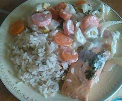 Papilotte de Saumon + Légumes