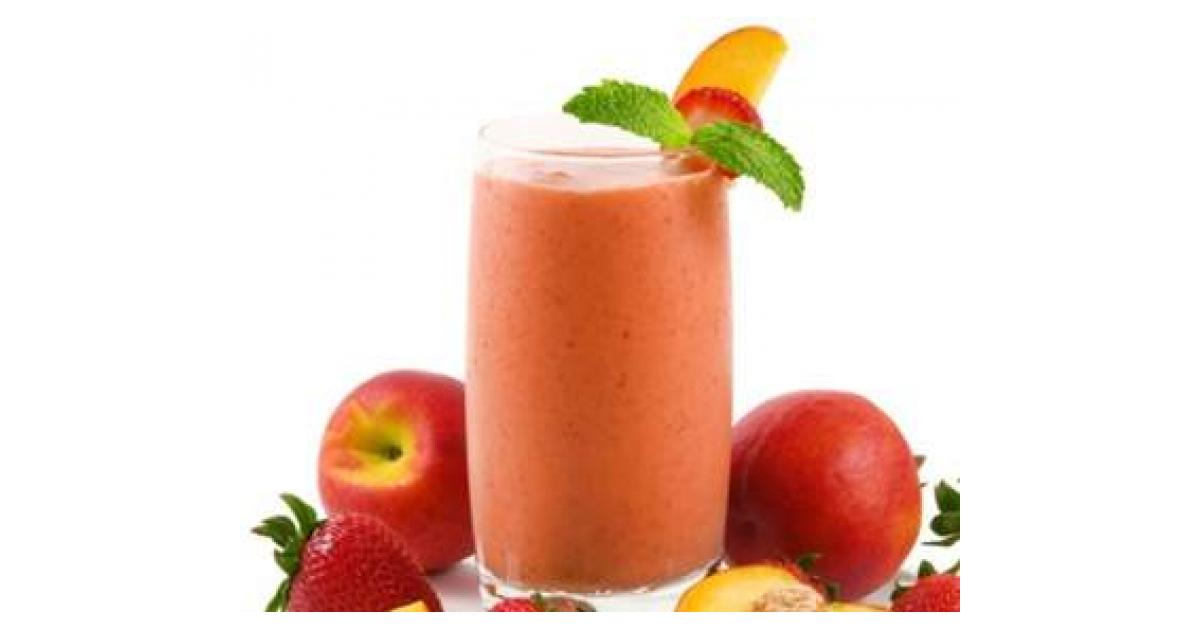 smoothie aux fraises p ches et glace vanille by inlola on