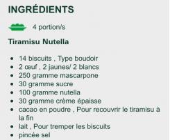 Tiramisu Nutella