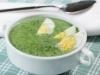 Soupe d'épinards aux oeufs