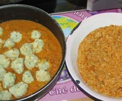 Boulette de poisson à la provençale et son riz