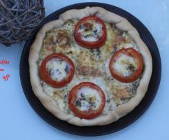 Quiche thon, tomate et mozzarella