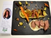 Veau de l Aveyron au saveur du thé d Aubrac,son ecrasée de pommes de terre aux  noisettes torefies,et son emulsions au vieux Rodez concours thermostars