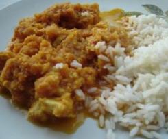 Poulet au curry et à la pomme