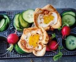 Muffins aux œufs et jambon