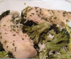 filet de poulet sauce citron vert basilic