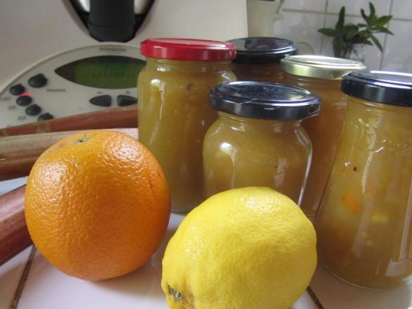confiture de rhubarbe orange