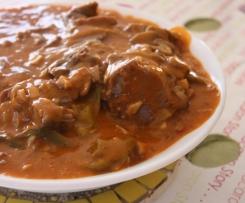 Langues de porc sauce madère