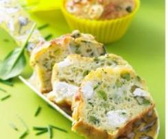 Cake petits pois, courgettes et chèvre