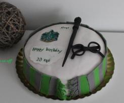 Gâteau Harry Potter (Serpentard) en pâte à sucre