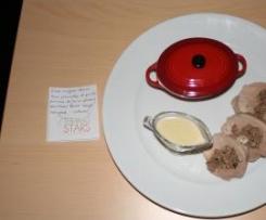 """Filet mignon farci aux pleurotes et purée pommes de terre - panais - parmesan façon """"aligot"""""""