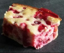 Gâteau groseilles, amandes et philadelphia