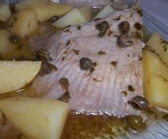 Aile de raie au beurre noir et ses pommes de terre