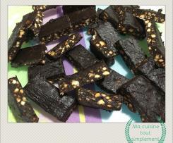Carrés douceurs au cacao et fruits secs SANS produit laitier