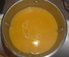 soupe de patates douces aux épices