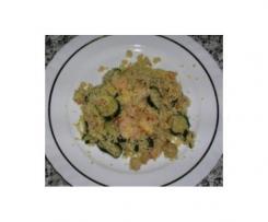 Couscous de courgettes aux crevettes