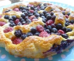 tartes au sucre aux fruits d'été