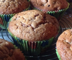 Muffins au chocolat, banane et pépites de chocolat