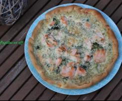 Quiche au saumon et brocolis