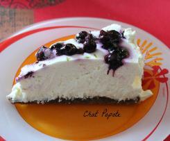 Cheesecake au citron vert et aux myrtilles (sans cuisson)