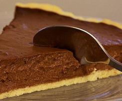 Tarte au chocolat et châtaigne