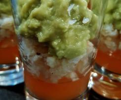 Nuage de guacamole, crabe et gelée de pamplemousse