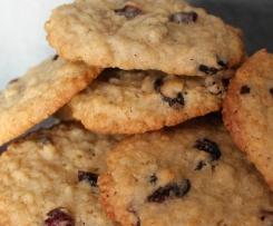 Cookies aux flocons d'avoine et aux cranberries