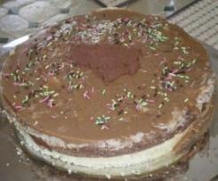 Bavarois chocolat marron et caramel