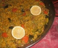 Paella aux coquillettes (végétarienne)