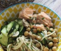 Bowl saumon et nouilles soba au thermomix
