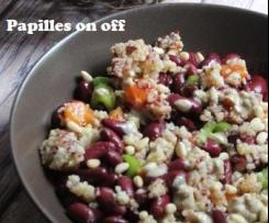 Salade de quinoa aux haricots rouges et sa sauce crémeuse au tahiné - Ig bas