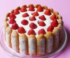 charlotte chocolat blanc et fraises