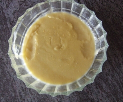 pudding a la rhubarbe