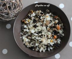 Riz aux champignons et carottes à l'asiatique