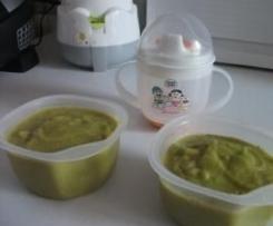 Purée de légumes verts et limande