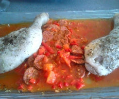 poulet basquaise au chorizo