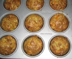 muffins avec des restes de légumes améliorés