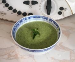 soupe froide courgette chèvre et menthe