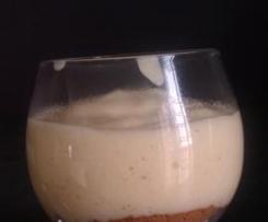 Verrines de crème au chocolat blanc sur lit de speculoos