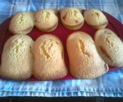 madeleine sans gluten fourrés a la confiture