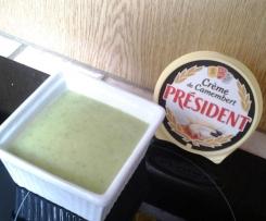 soupe de courgette pomme de terres a la creme de camenbert