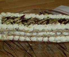 Mille Feuilles de Macarons Gingembre/Cerise