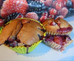 Muffins Amandes - Fruits Rouges