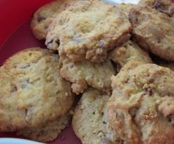Cookies nougatine pralin et chocolat pralinoise