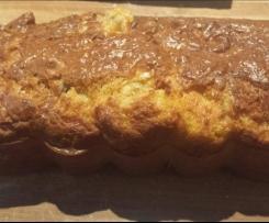 cake au roquefort, noix et jambon