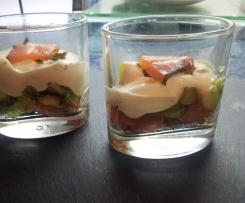 Verrine saumon / kiwi