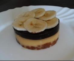 Sablé au caramel salé, banane et chocolat noir