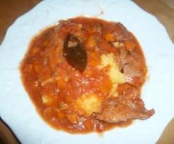 Veau à la sauce tomate