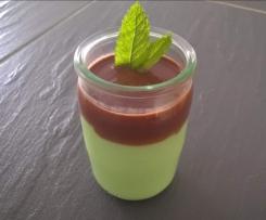 Variante de crème menthe coulis choco